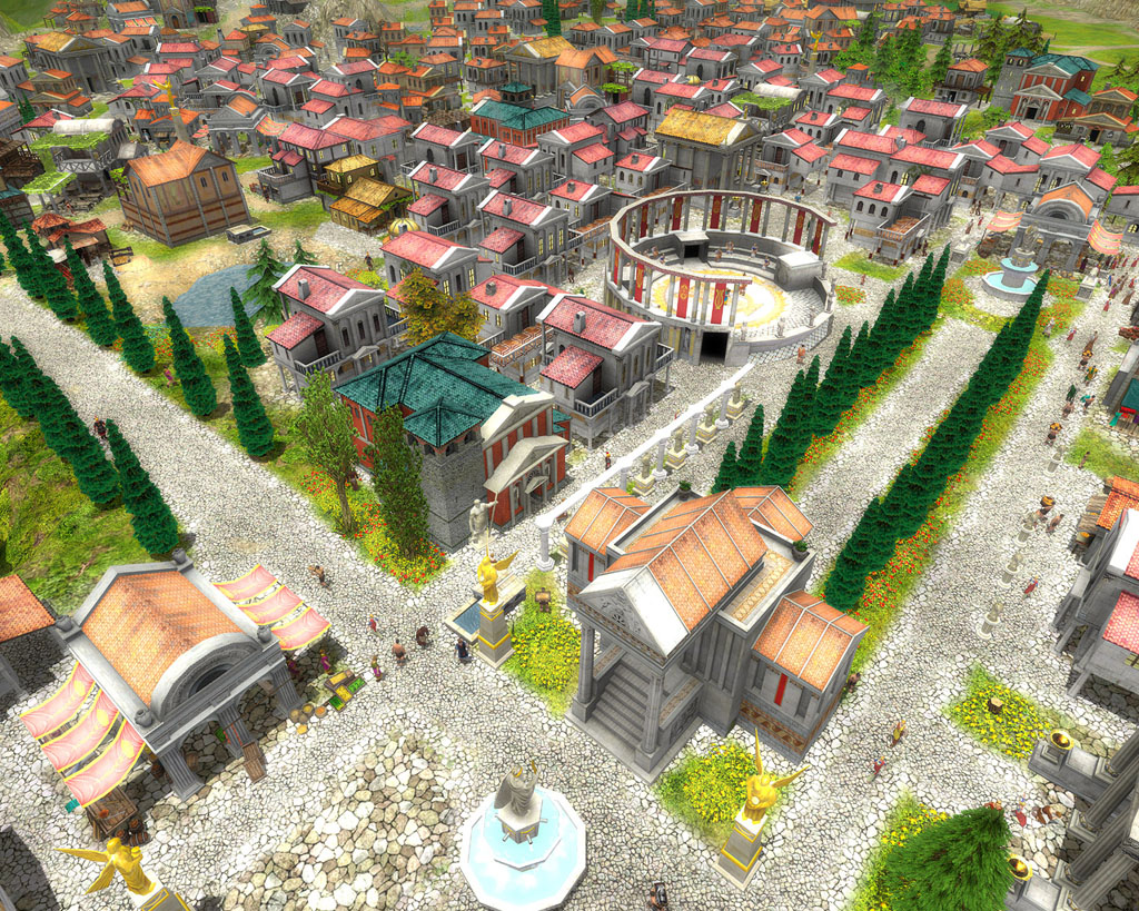 A Cartoon Roman Town