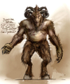 Warhammer Online: Age of Reckoning - Artwork, modelsheet_beastman_base.jpg