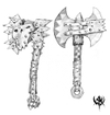 Warhammer Online: Age of Reckoning - Artwork, or_weapons_axes2.jpg