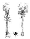 Warhammer Online: Age of Reckoning - Artwork, or_weapons_staves1.jpg